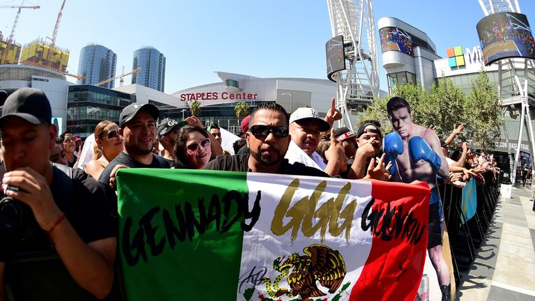 Golovkin has a big fan base in Mexican, owing to his hard-hitting boxing style