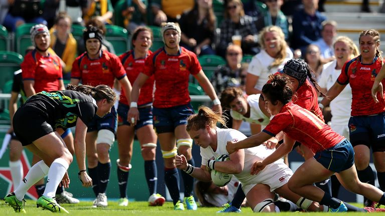 England beat Spain 56-5 in their Workld Cup opener