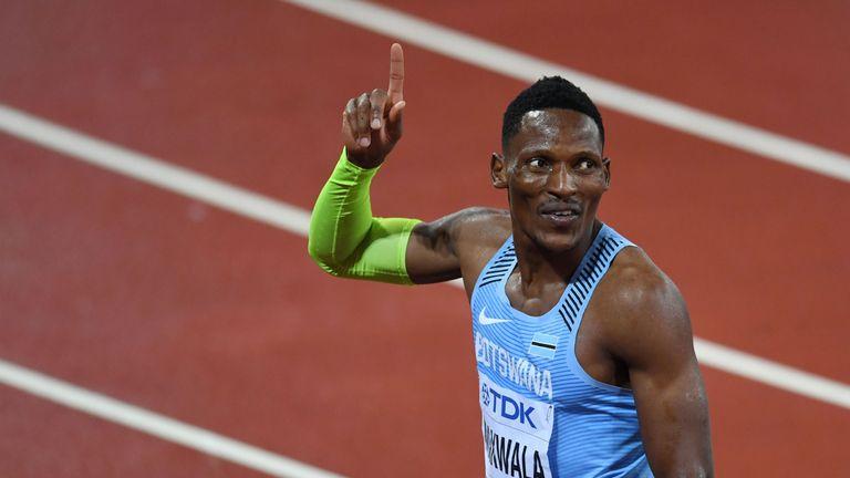Botswana's Isaac Makwala finished sixth in the 200m