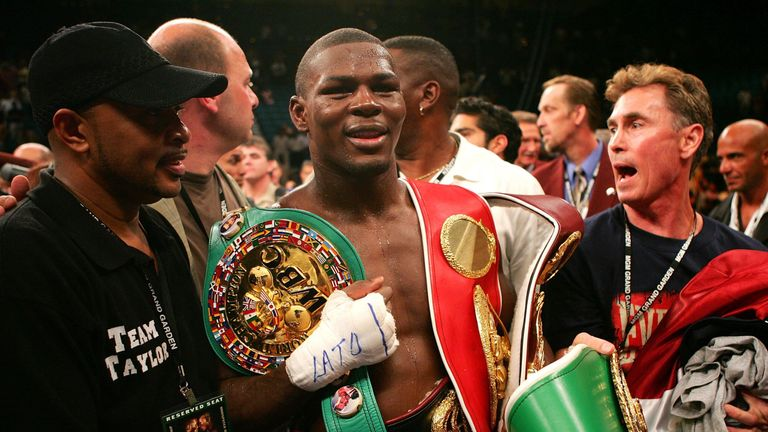 Jermain Taylor claimed all four middleweight world titles