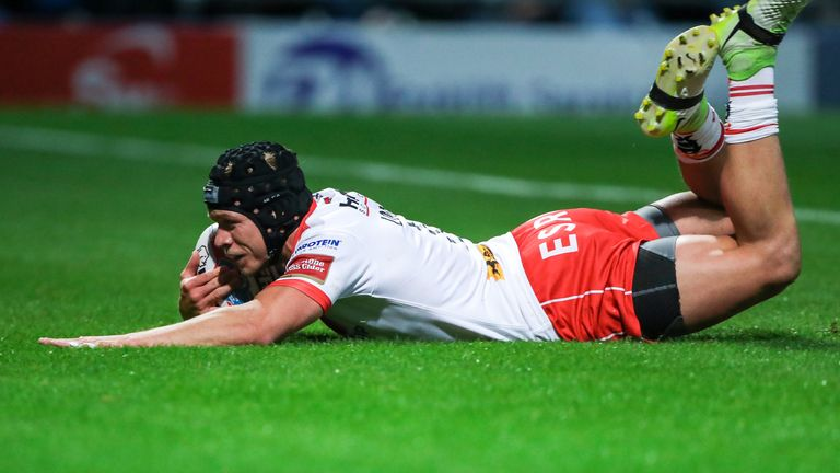 Jonny Lomax went over twice for St Helens