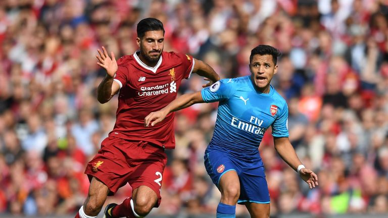 Sanchez made his first appearance of the new season in the 4-0 defeat at Liverpool on Super Sunday
