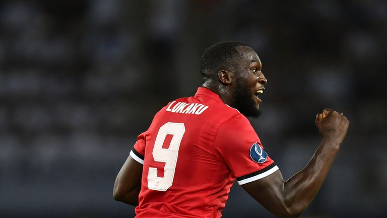 Romelu Lukaku is set to make his league debut for United