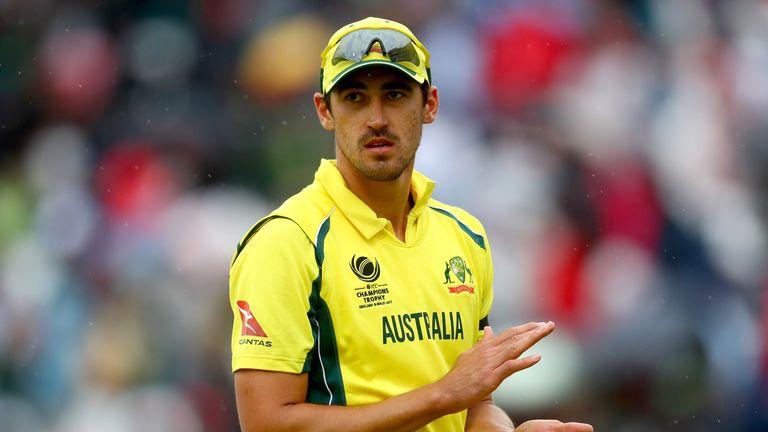 Australian bowler Mitchell Starc in action
