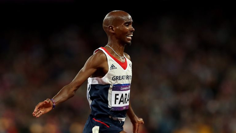 Great Britain's Sir Mo Farah is in the top 10 of male nominees