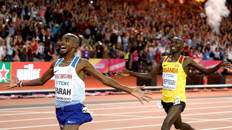 Farah ended his track career at the London 2017 World Championships