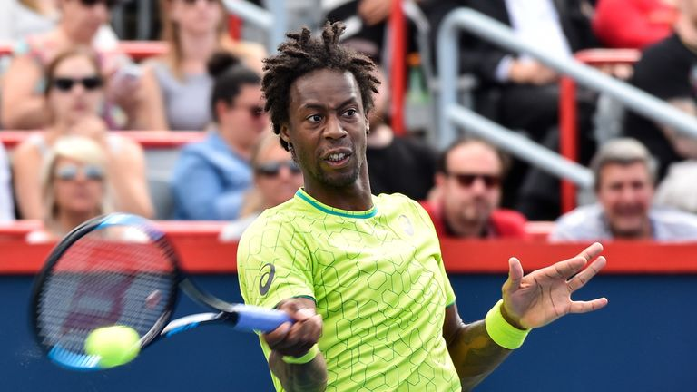 Gael Monfils fought back to overcome Steve Johnson