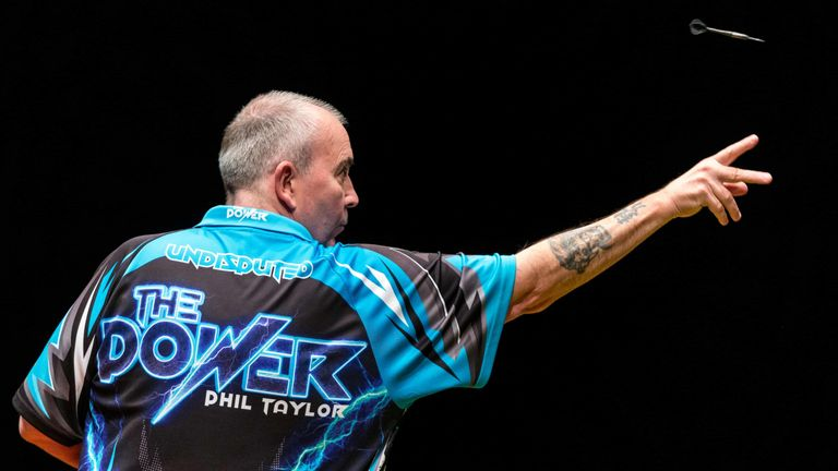 Taylor overcame Peter Wright 11-8 in a game which was tight for long periods (Tim Murdoch/PDC)