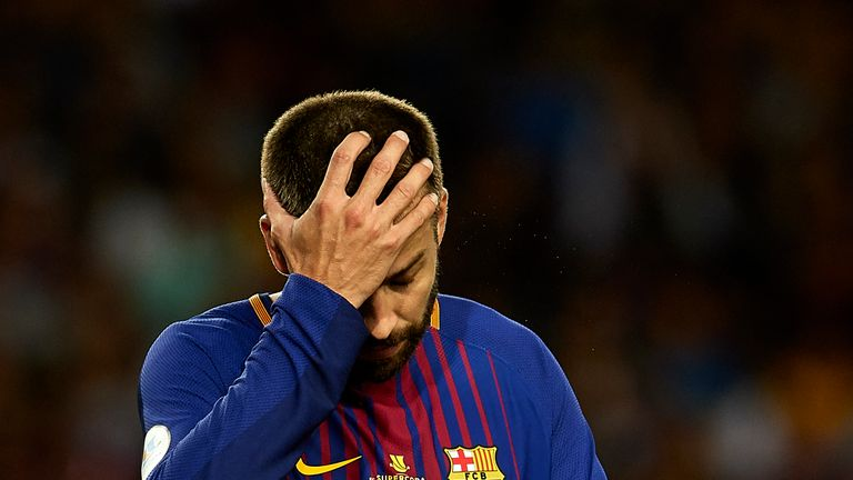 Gerard Pique and Barcelona lost 5-1 to Real Madrid over two legs in the Spanish Super Cup