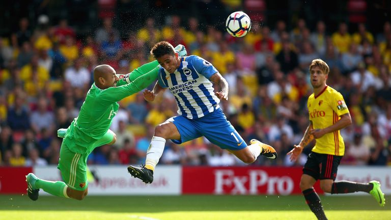 Anthony Knockaert and his Brighton team-mates are yet to find the net in the Premier League