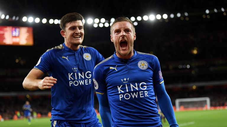 Jamie Vardy and Harry Maguire were praised by Craig Shakespeare