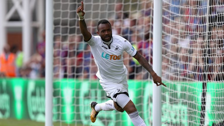 Carvalhal is delighted with the current form of Jordan Ayew