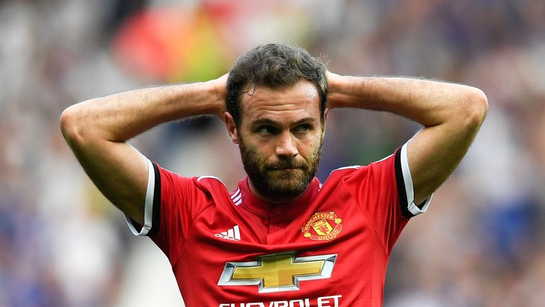 Juan Mata had a first half goal disallowed for offside