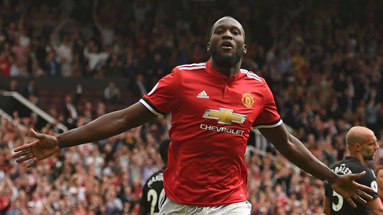 Romelu Lukaku became the fourth Manchester United player to score twice on Premier League debut
