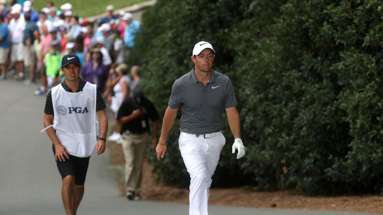 Rory McIlroy was surprised to see his ball so far from the hole