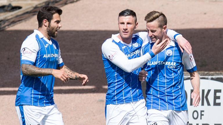 Steven MacLean opened the scoring as St Johnstone ran out comfortable winners