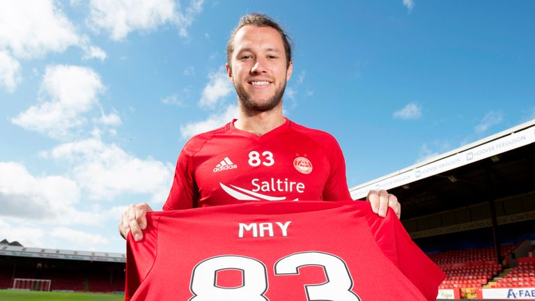 Stevie May is back in Scottish football with Aberdeen