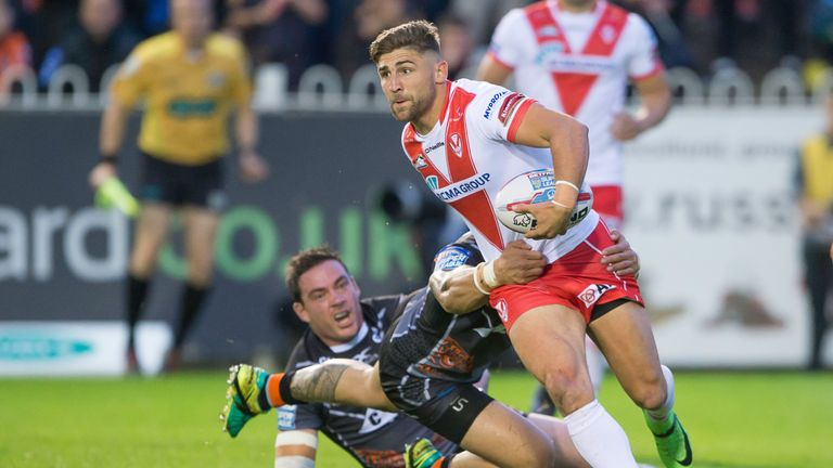 St Helens' Tommy Makinson is still in search of a try in 2017