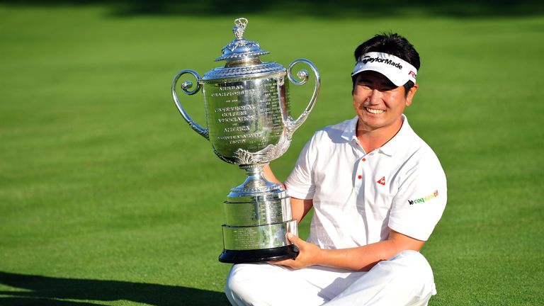 Y.E. Yang missed the cut at Whistling Straights after success at Hazeltine