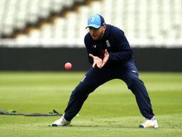 Mark Stoneman takes part in a fielding drill at Edgbaston