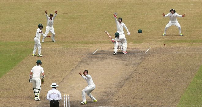 Bangladesh spinner Shakib Al Hasan traps David Warner for 112 in Dhaka