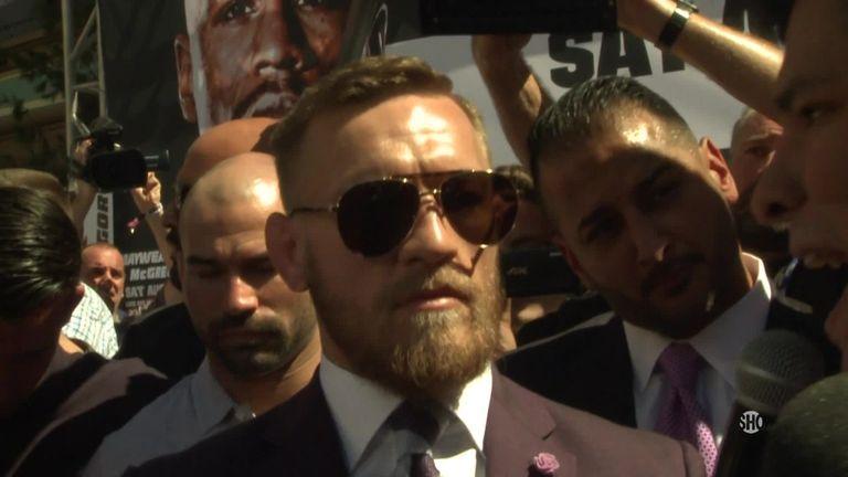 Conor McGregor Las Vegas arrival (screengrab)