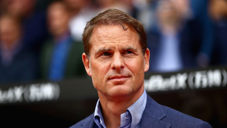 Frank de Boer didn't like what he saw on the opening day