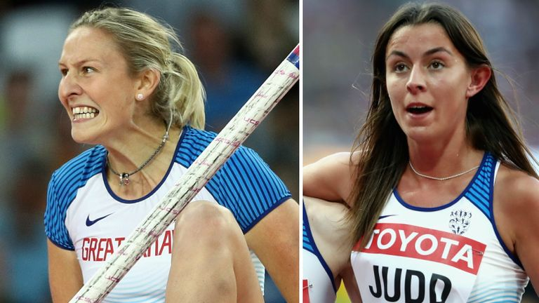 Holly Bradshaw and Jessica Judd missed out on medals in London