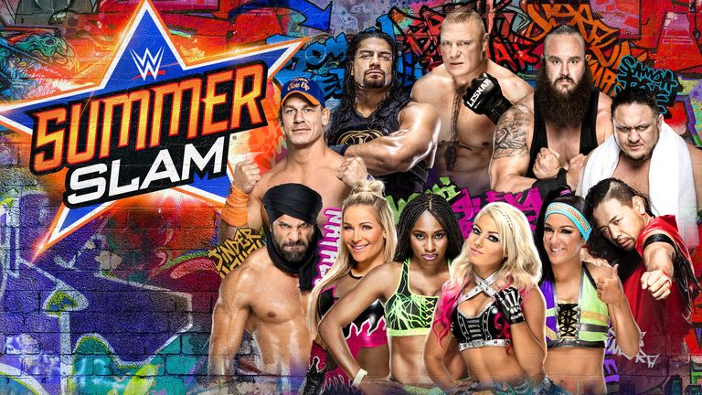 WWE SummerSlam will be live on Sky Sports Box Office at 1am on August 21.