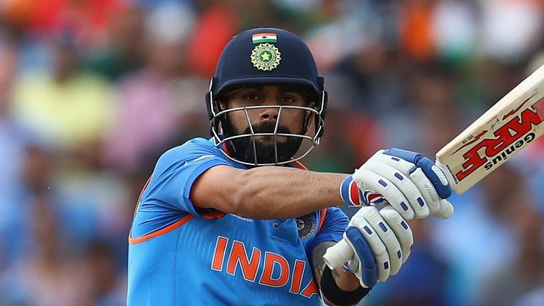 Virat Kohli struck 131 in a stand of 219 with Rohit Sharma