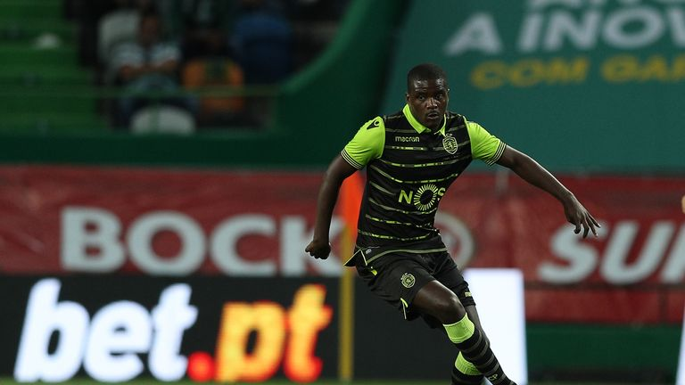Sporting CP midfielder William Carvalho from Portugal during the Friendly match between Sporting CP and AS Monaco