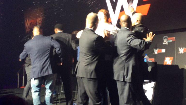 WWE brawl, Sky Sports