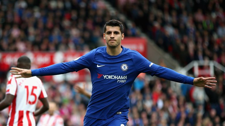 Alvaro Morata could return for Chelsea's Champions League game against Roma on Wednesday