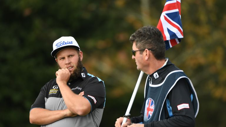 Britain's tallest man at the British Masters