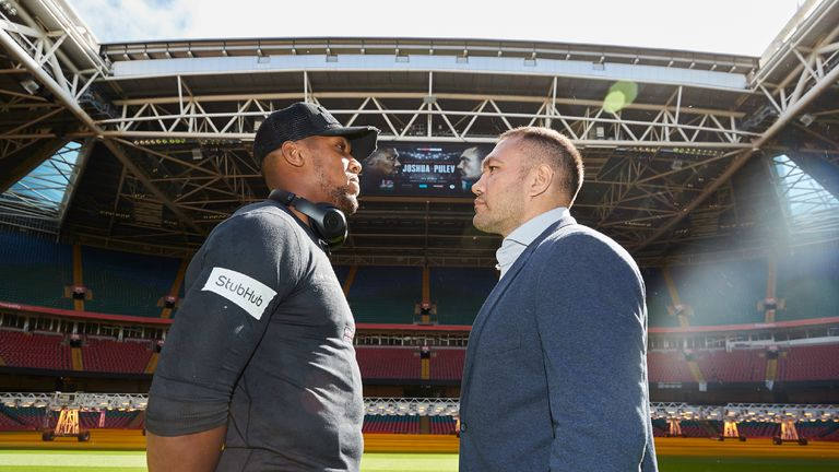Anthony Joshua faces Kubrat Pulev in Cardiff on October 28, live on Sky Sports Box Office