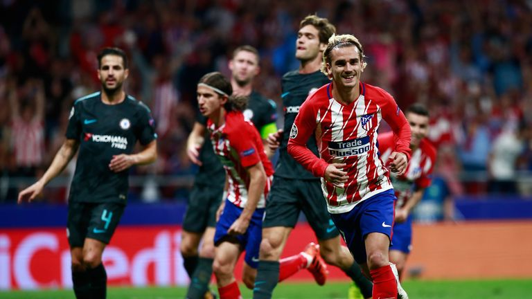 Antoine Griezmann hinted at a possible move to Manchester United in the summer