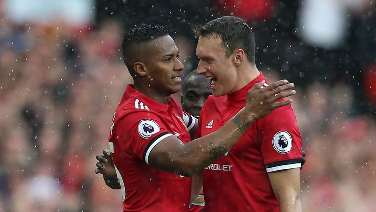 Antonio Valencia (left) has never lost when he's scored in the Premier League