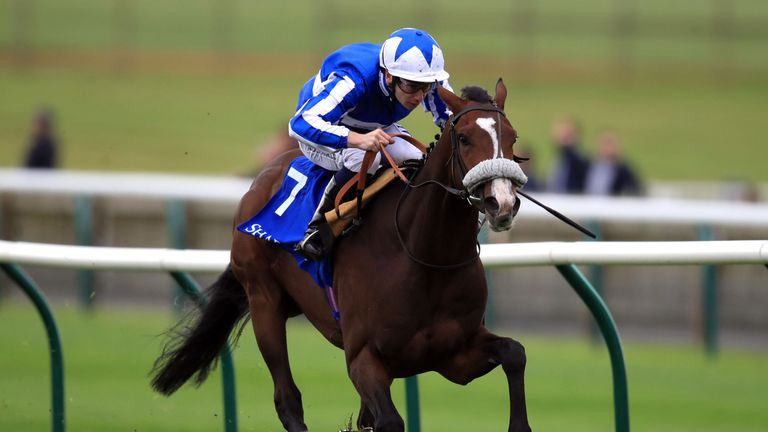 Beat The Bank on the way to winning the Shadwell Joel Stakes