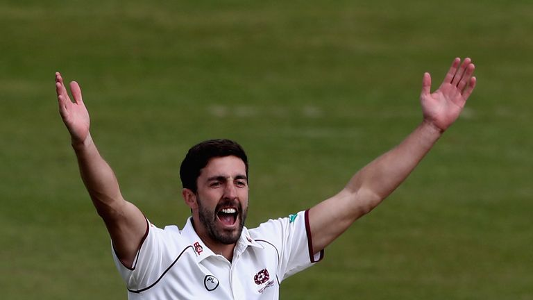 Ben Sanderson took two wickets for Northamptonshire on the opening day at Lord's