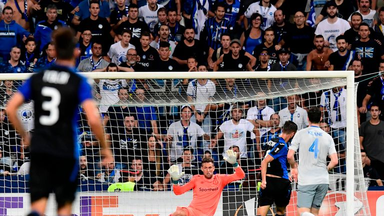 Everton were thumped 3-0 by Atalanta in their Group E opener