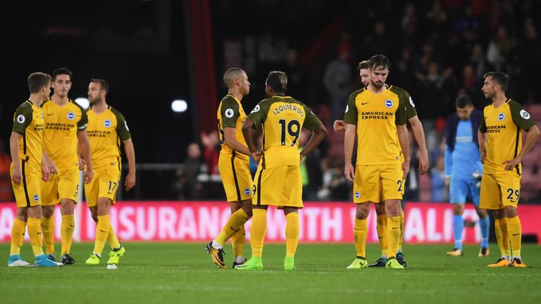 Brighton defended well and were unlucky to lose to Bournemouth, according to Gary Neville and Jamie Carragher
