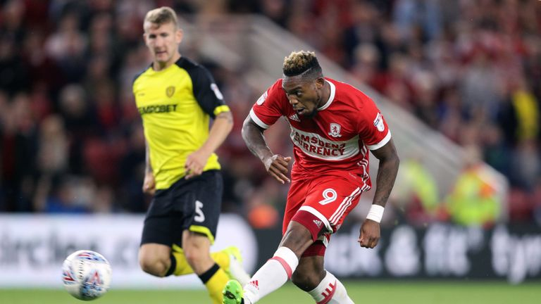 Britt Assombalonga scored for Boro at the KCOM Stadium