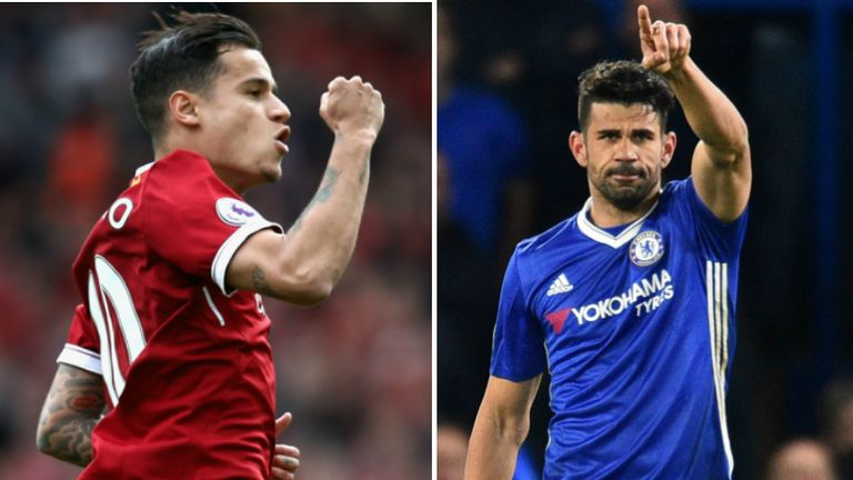 Philippe Coutinho and Diego Costa seem to be staying in the Premier League