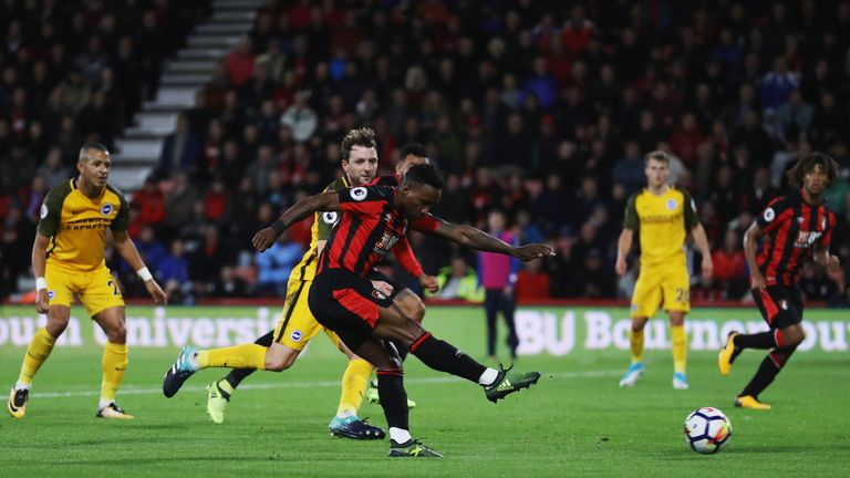 Jermain Defoe scored Bournemouth's winner over Brighton is September