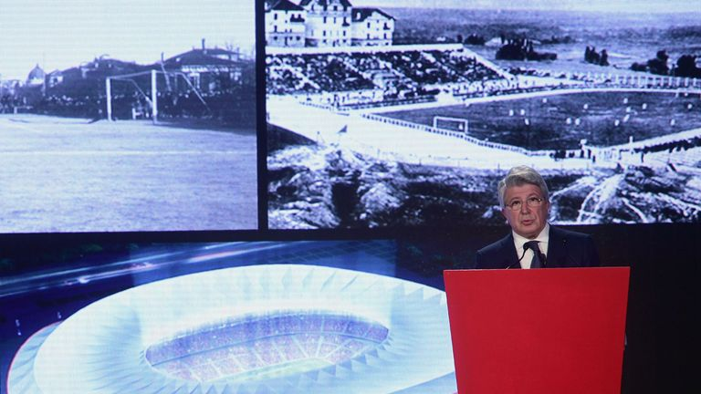 Enrique Cerezo presents plans for the Wanda Metropolitano