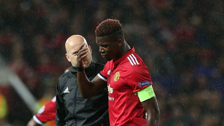 Paul Pogba has been sidelined since United's Champions League win over Basel