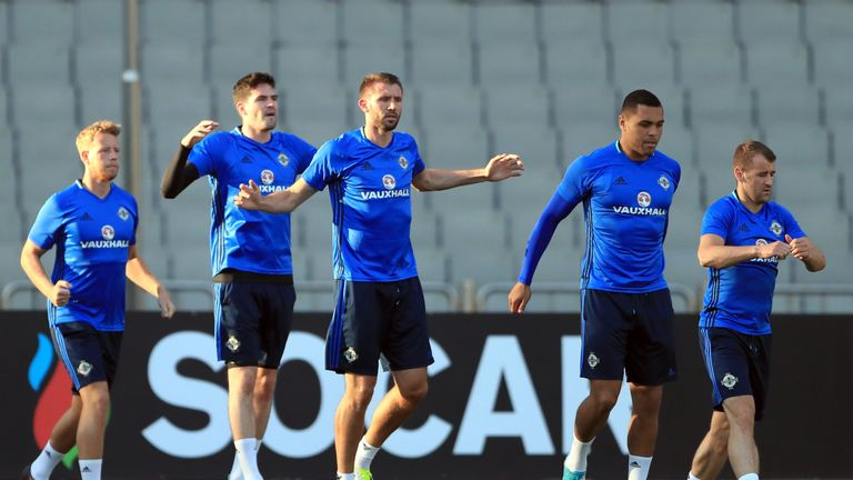Gareth McAuley (right) returns to the Northern Ireland squad after injury