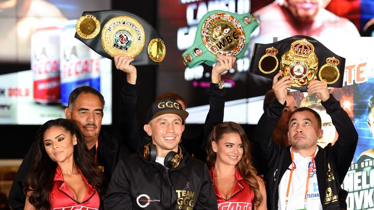 Gennady Golovkin arrives in Las Vegas ahead of his weekend meeting with Canelo Alvarez