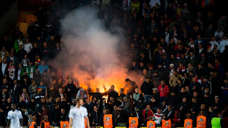 Sections of German supporters were heard making Nazi-era chants in the game against Czech Republic