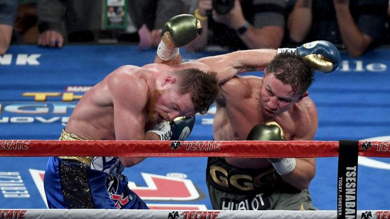 Golovkin pinned his man on the ropes on numerous occasions